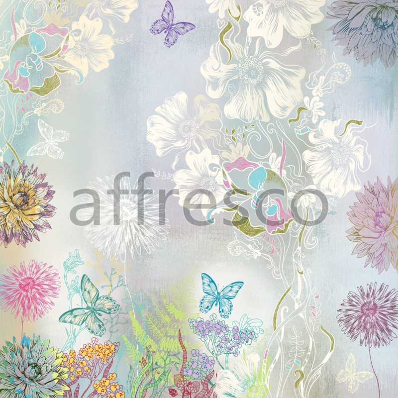 ID13228 | Flowers | butterflies and flowers | Affresco Factory