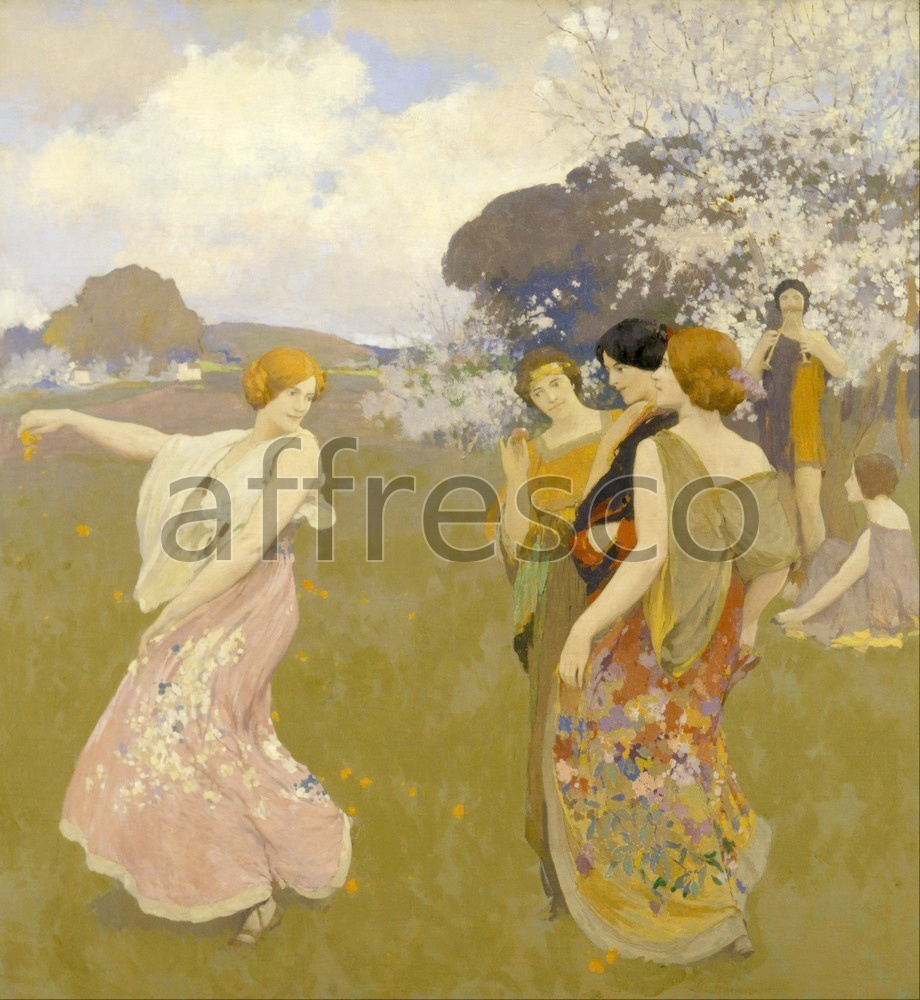 Impressionists & Post-Impressionists | Arthur F. Mathews Spring Dance | Affresco Factory