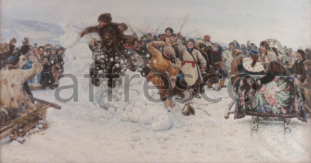 Scenic themes | Vasily Surikov Taking a Snow Town | Affresco Factory