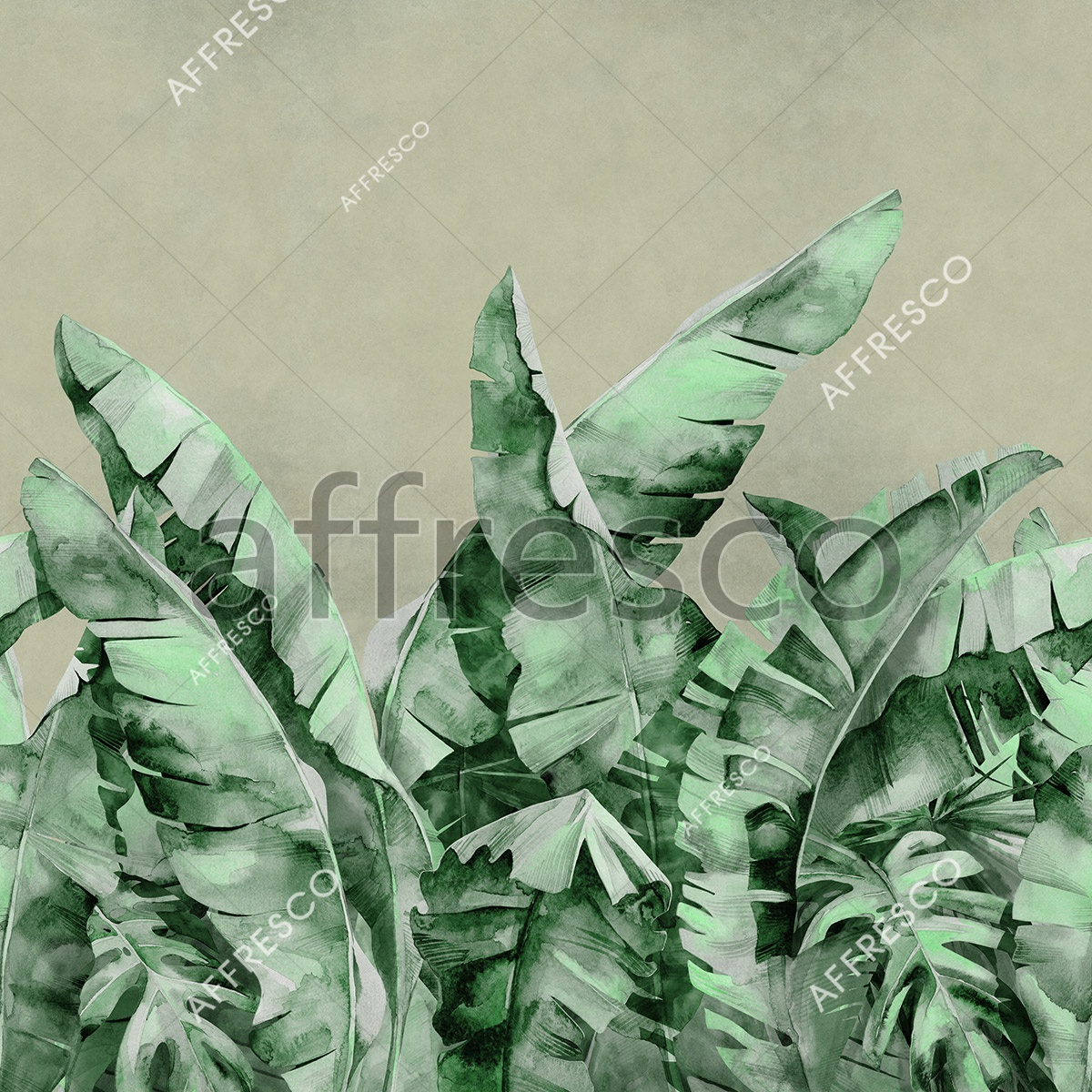 Handmade wallpaper, Handmade wallpaper | Large Palm Foliage