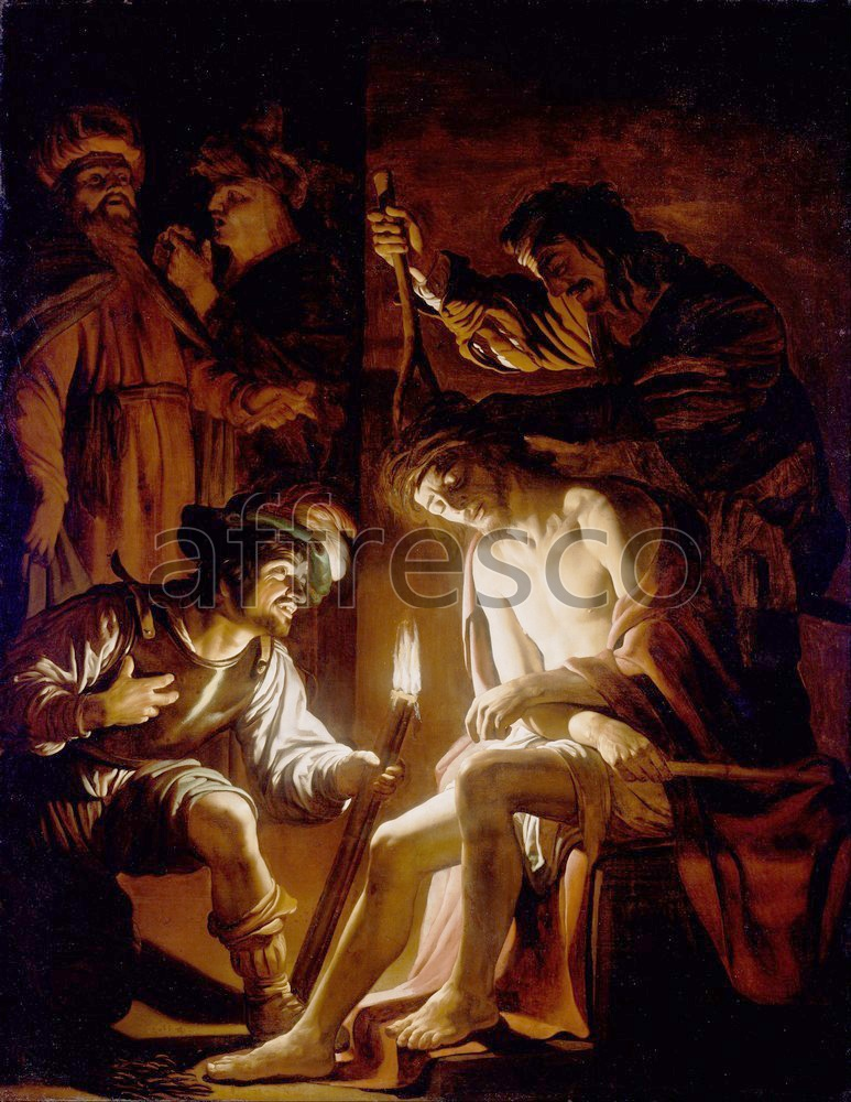 Biblical themes | Gerrit van Honthorst Christ Crowned with Thorns | Affresco Factory