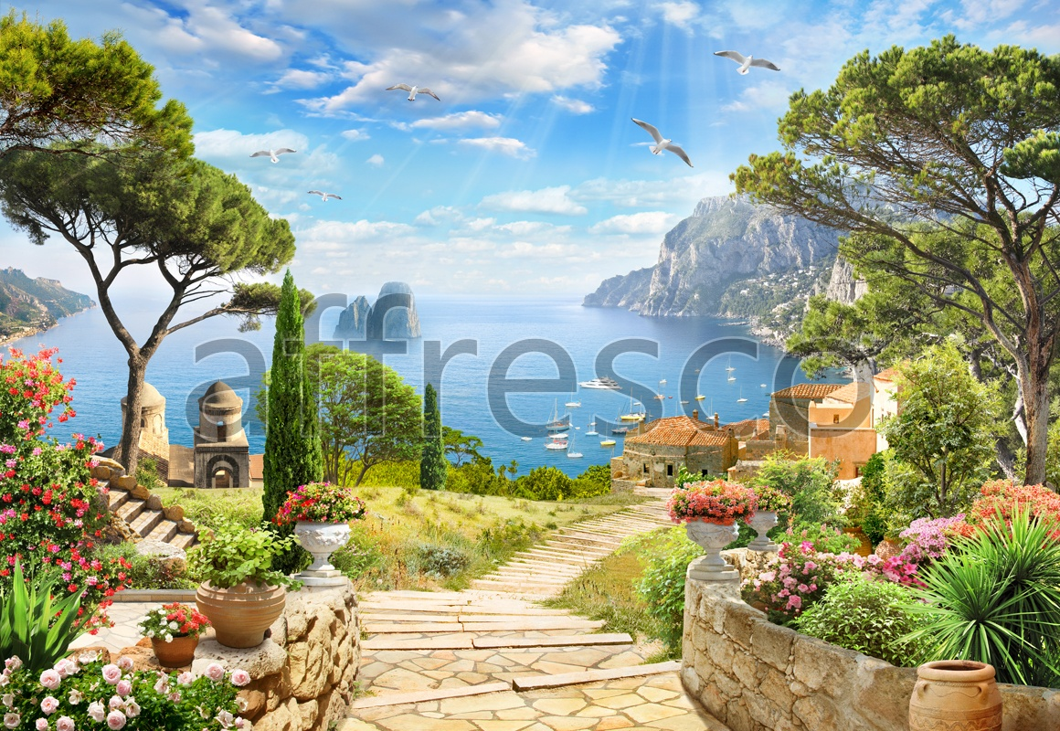 6445 | The best landscapes | Sunny gulf | Affresco Factory