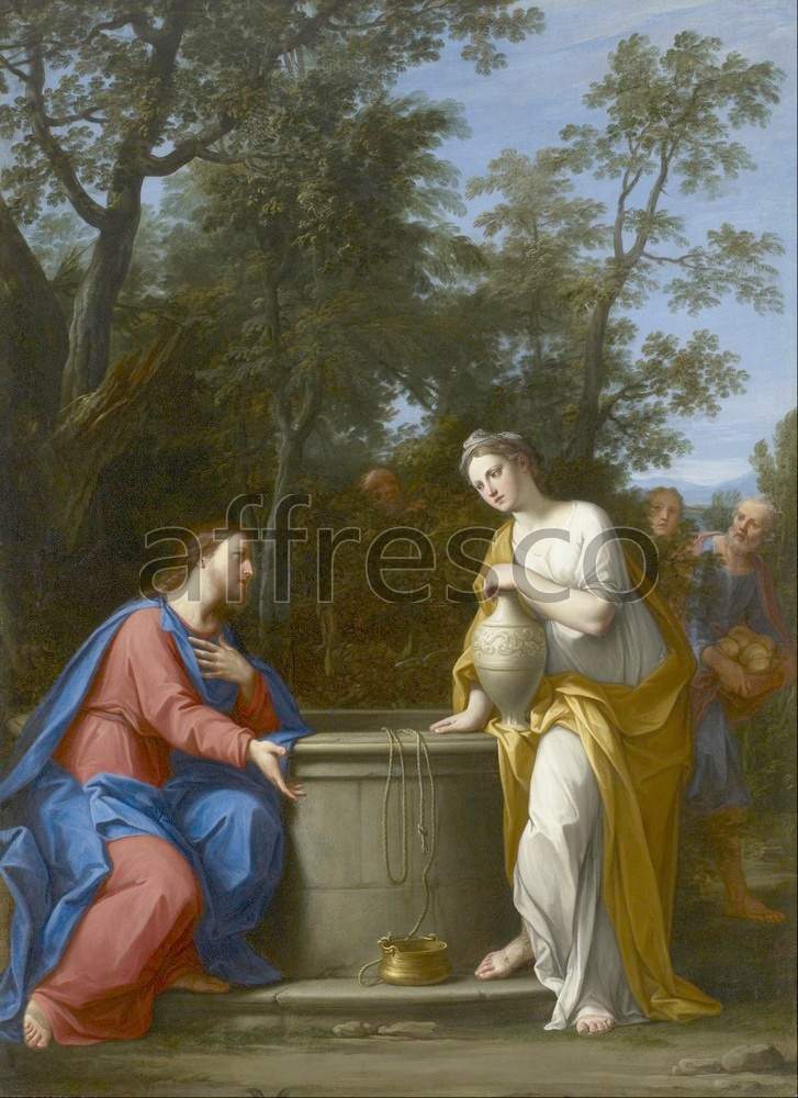 Biblical themes | Marcantonio Franceschini  Christ and the Woman of Samaria | Affresco Factory