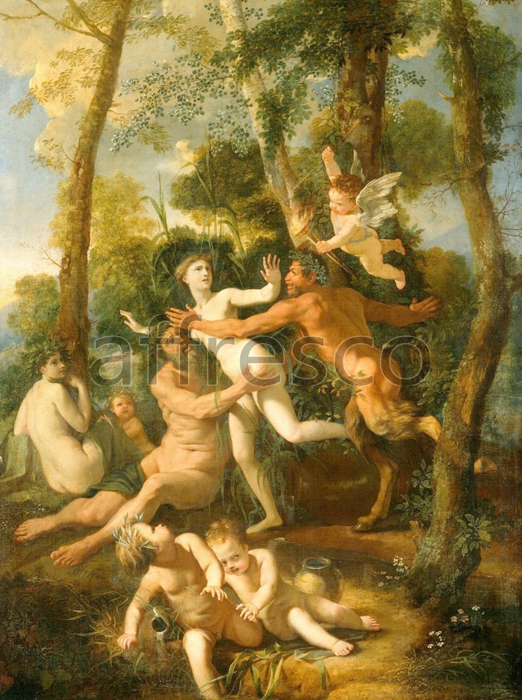 Classical antiquity themes | Nicolas Poussin Pan and Syrinx | Affresco Factory