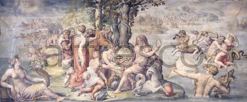 Scenic themes | Giorgio Vasari The first fruits from earth offered to Saturn | Affresco Factory