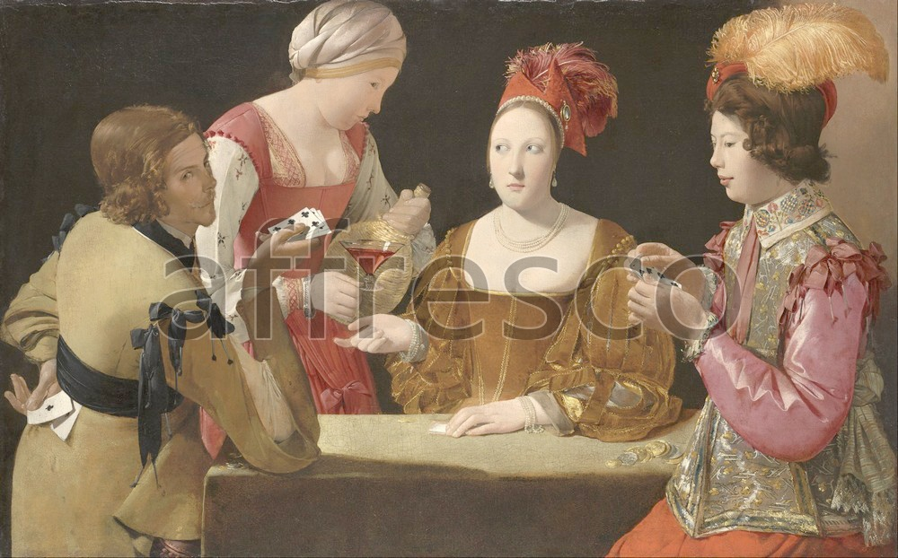 Scenic themes | Georges de La Tour The Cheat with the Ace of Clubs | Affresco Factory