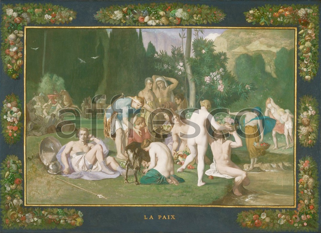 Classical antiquity themes | Pierre Puvis de Chavannes French Peace | Affresco Factory