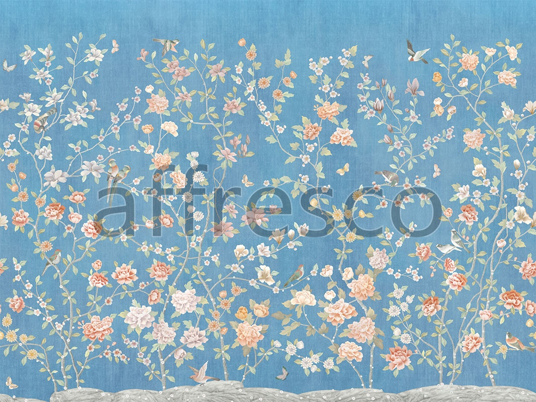 Art Chinese Garden Color 2 Handmade Wallpaper Affresco Factory