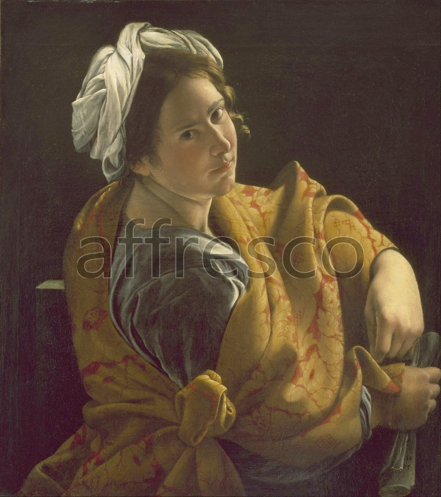 Scenic themes | Orazio Gentileschi Portrait of a Young Woman as a Sibyl | Affresco Factory