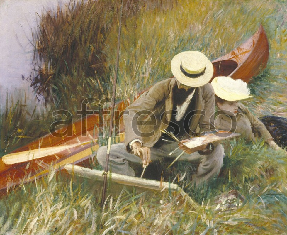 Scenic themes | John Singer Sargent An Out of Doors Study | Affresco Factory