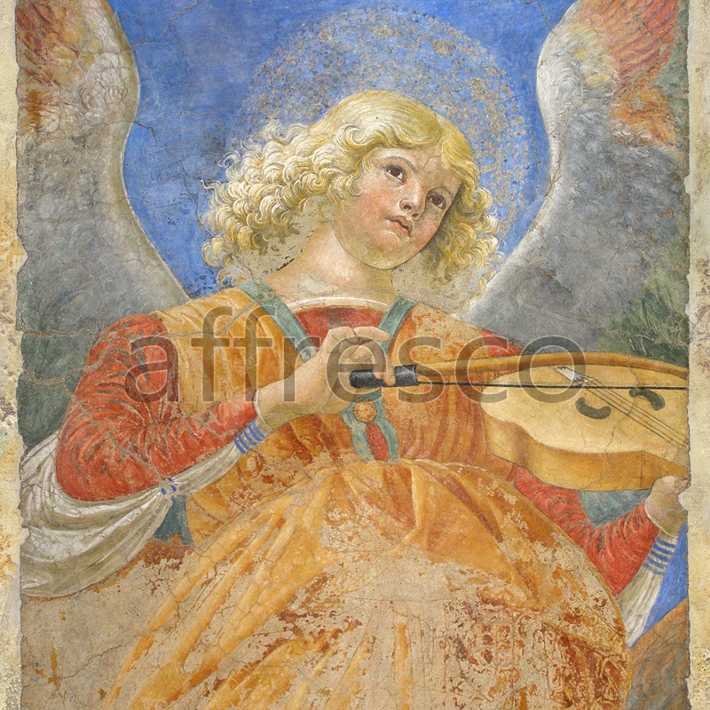 3203 | Classic Scenes | angels with violin | Affresco Factory