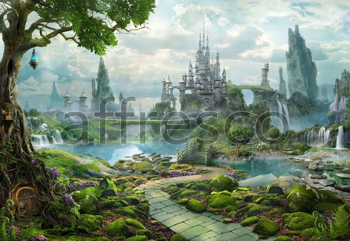 6480 | The best landscapes | Fairy castle | Affresco Factory