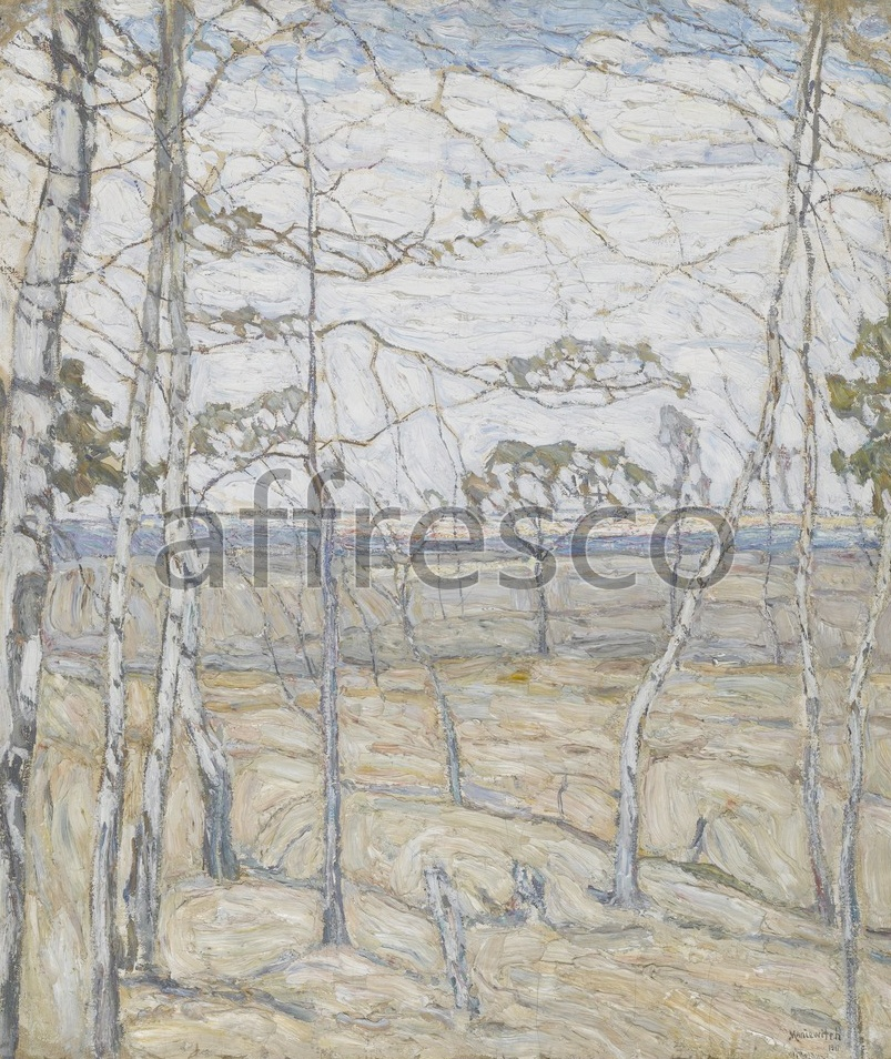 Impressionists & Post-Impressionists | Abraham Manievich Birch Trees | Affresco Factory
