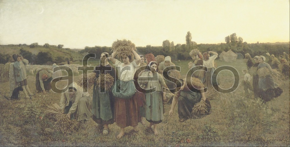 Scenic themes | Jules Breton Calling in the Gleaners | Affresco Factory