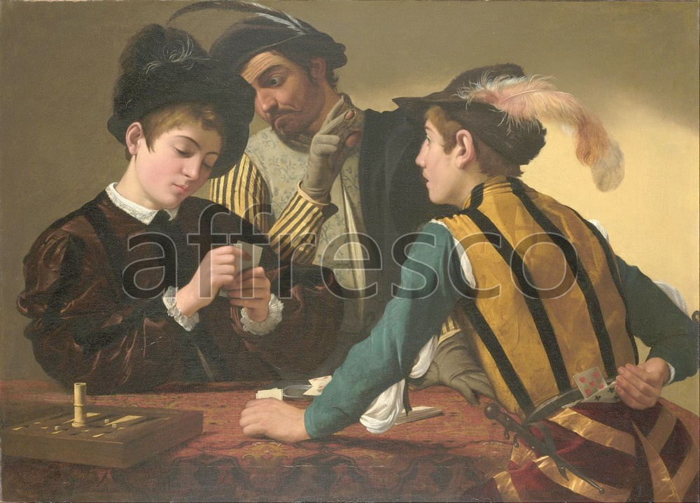 Scenic themes | Caravaggio Michelangelo Merisi The Cardsharps | Affresco Factory