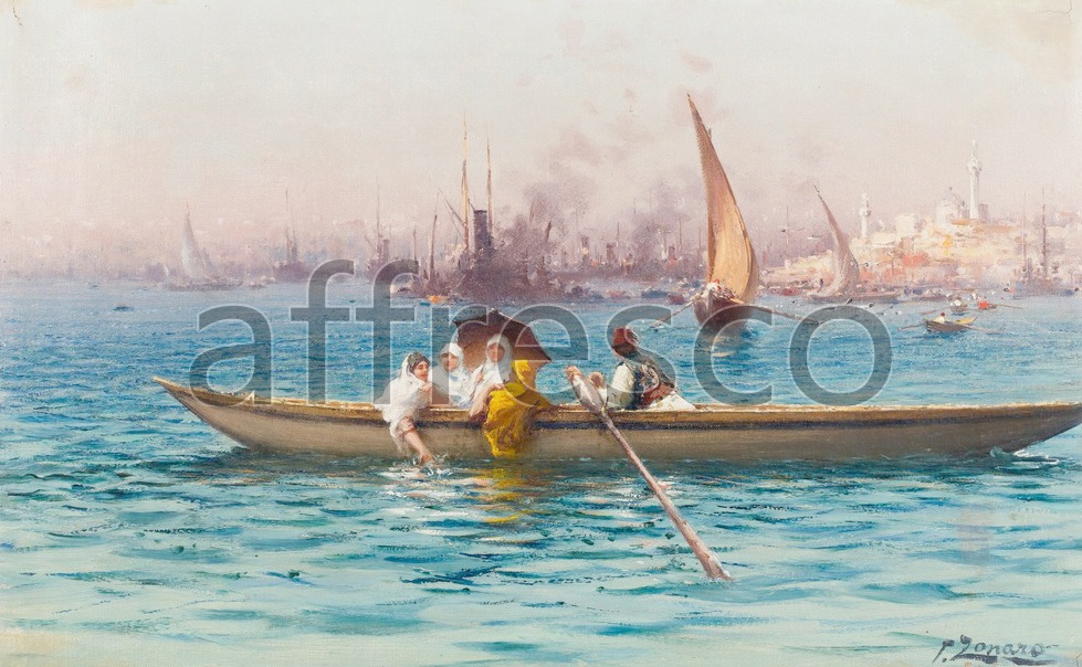 Scenic themes | Fausto Zonaro Amusement on the Caique | Affresco Factory