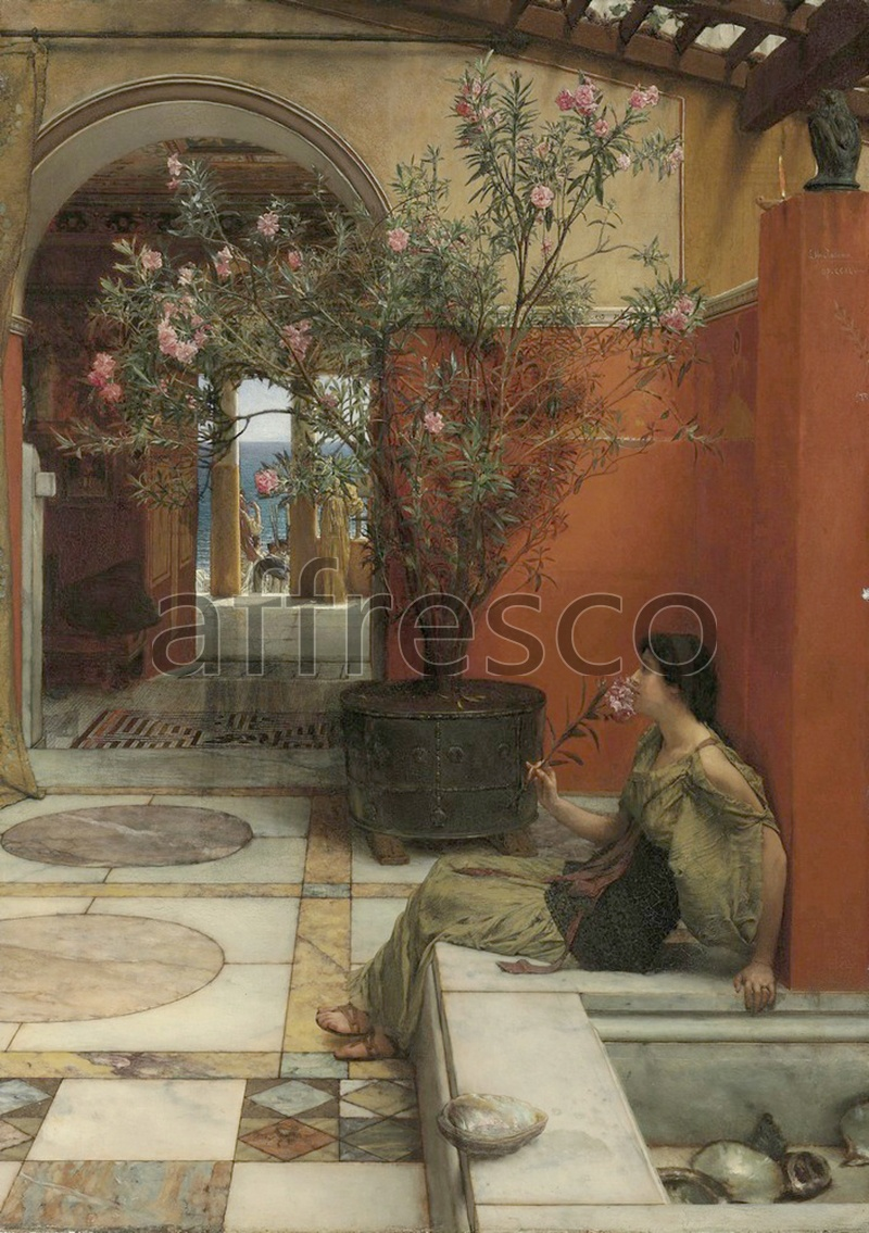 Classical antiquity themes | Lawrence Alma Tadema An Oleander | Affresco Factory