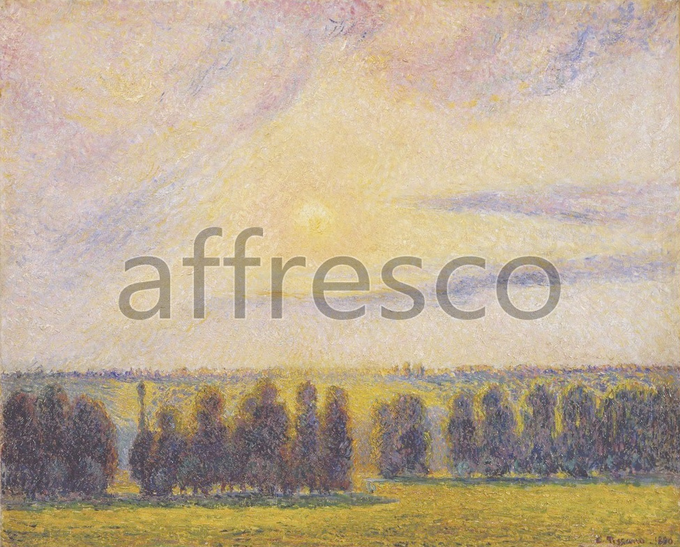 Impressionists & Post-Impressionists | Camille Pissarro Sunset at Eragny | Affresco Factory
