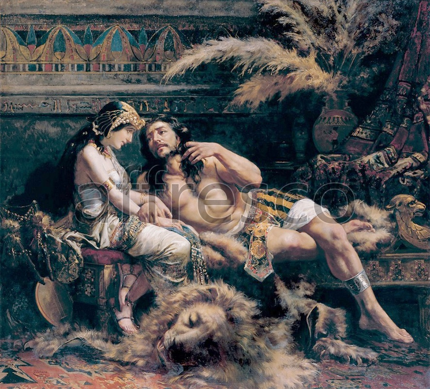 Classical antiquity themes | Jose Echenagusia Samson and Delilah | Affresco Factory
