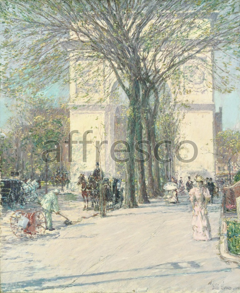 Impressionists & Post-Impressionists | Childe Hassam Washington Arch Spring | Affresco Factory