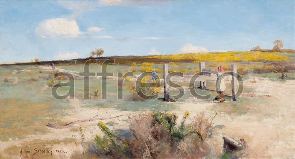 Impressionists & Post-Impressionists | Arthur Streeton Early summer gorse in bloom | Affresco Factory
