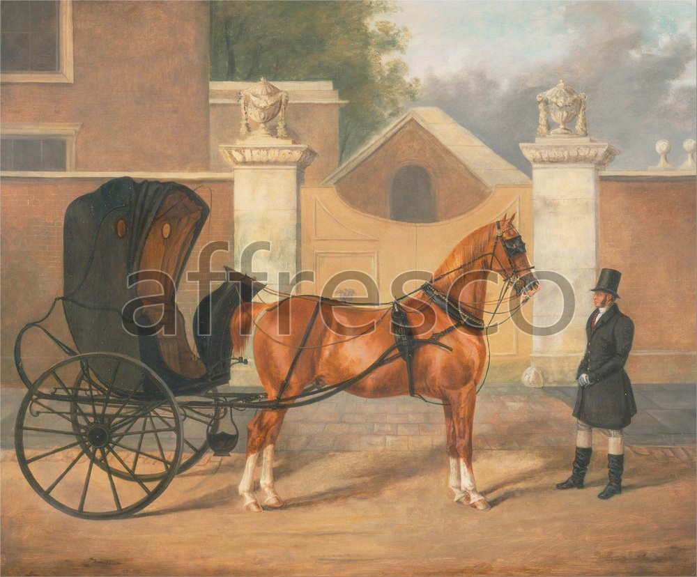 Paintings of animals | Charles Hancock Gentlemens Carriages A Cabriolet | Affresco Factory