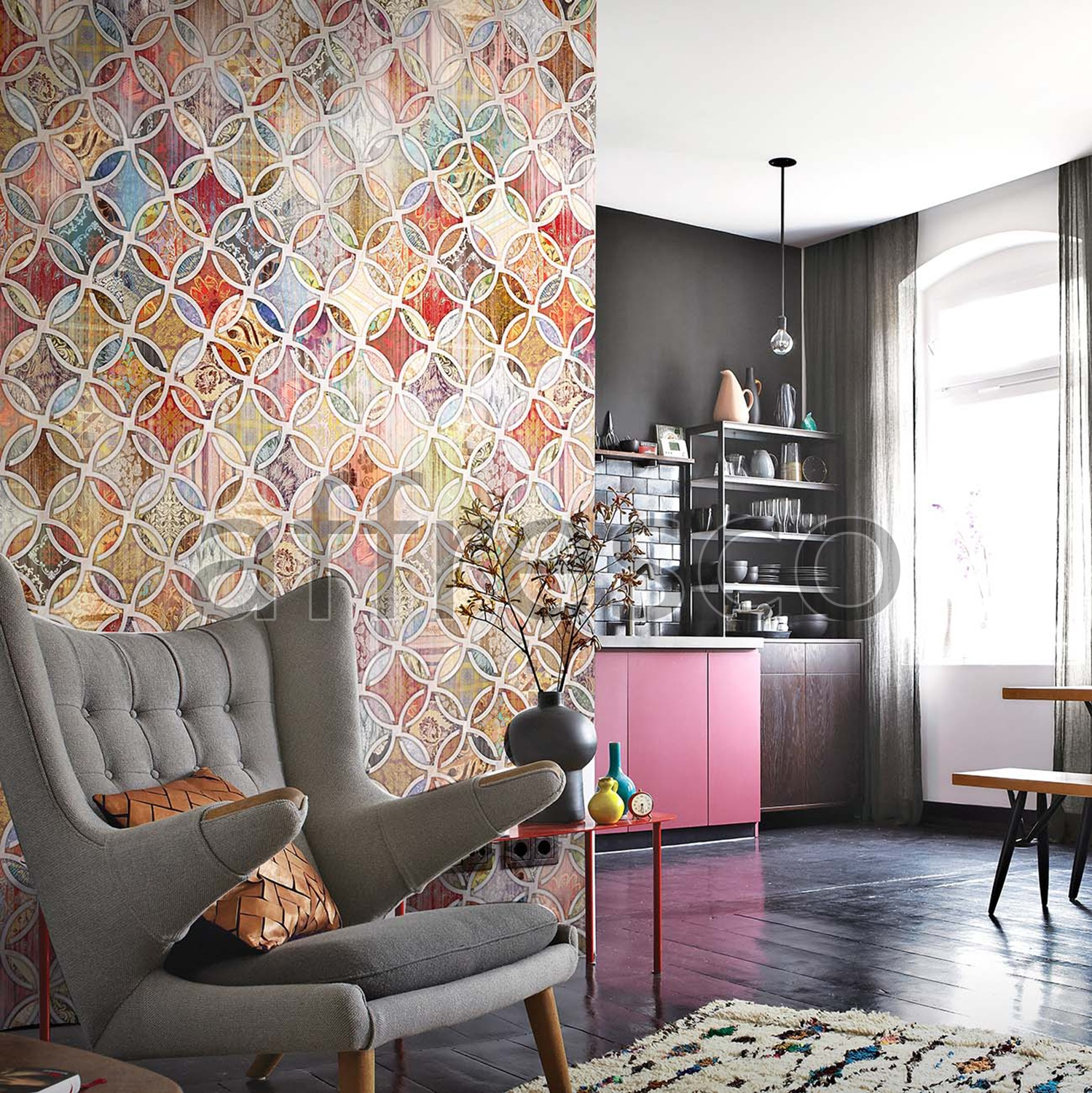 Handmade wallpaper, Handmade wallpaper | Openwork Lattice