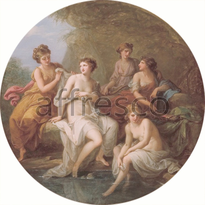 Classical antiquity themes | Angelica Kauffmann Diana and her nymphs bathing | Affresco Factory