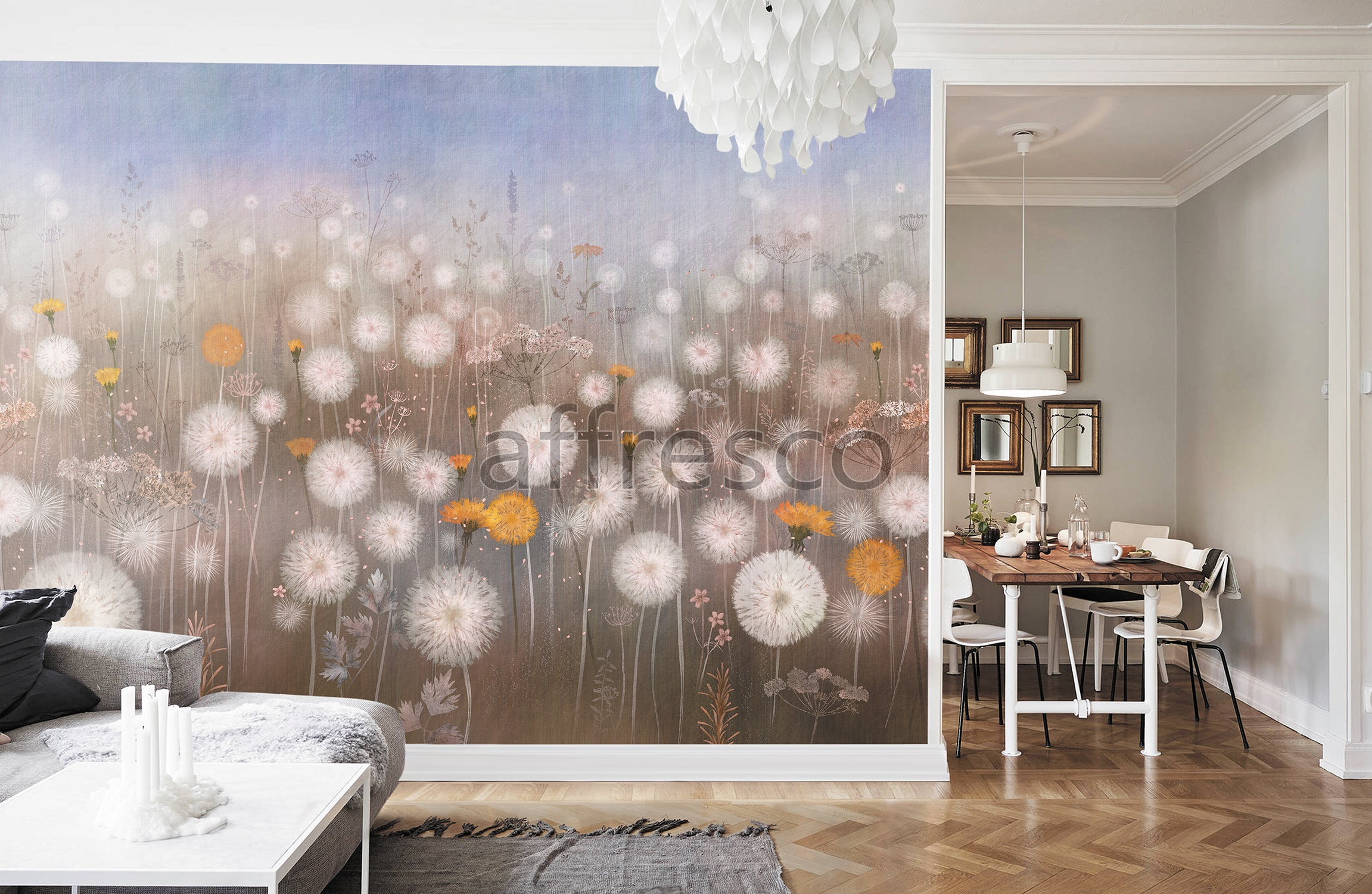Handmade wallpaper, Handmade wallpaper | Dandelion
