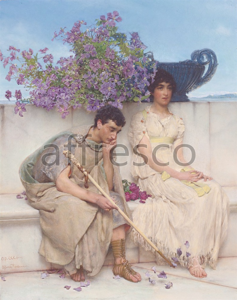 Classical antiquity themes | An eloquent silence by Lawrence Alma Tadema | Affresco Factory