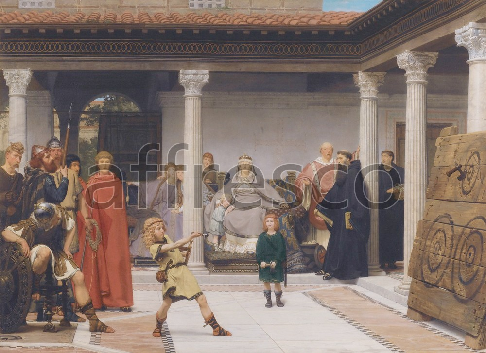Scenic themes | Alma Tadema The Education of the Children of Clovis | Affresco Factory