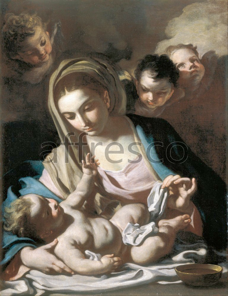 Biblical themes | Francesco Solimena Madonna and Child | Affresco Factory