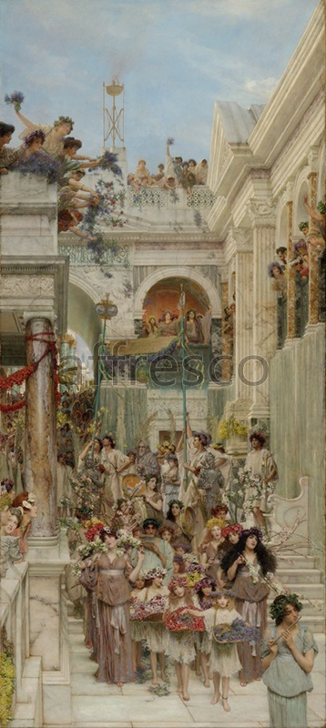 Classical antiquity themes | Lawrence Alma Tadema Spring | Affresco Factory