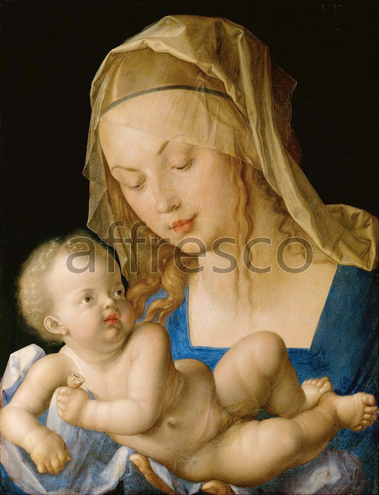 Biblical themes | Albrecht Durer Virgin and child with a pear | Affresco Factory
