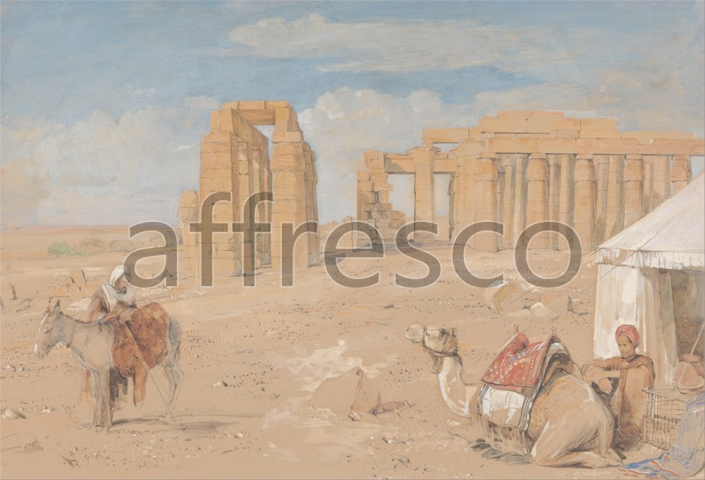 Scenic themes | John Frederick Lewis The Ramesseum at Thebes | Affresco Factory
