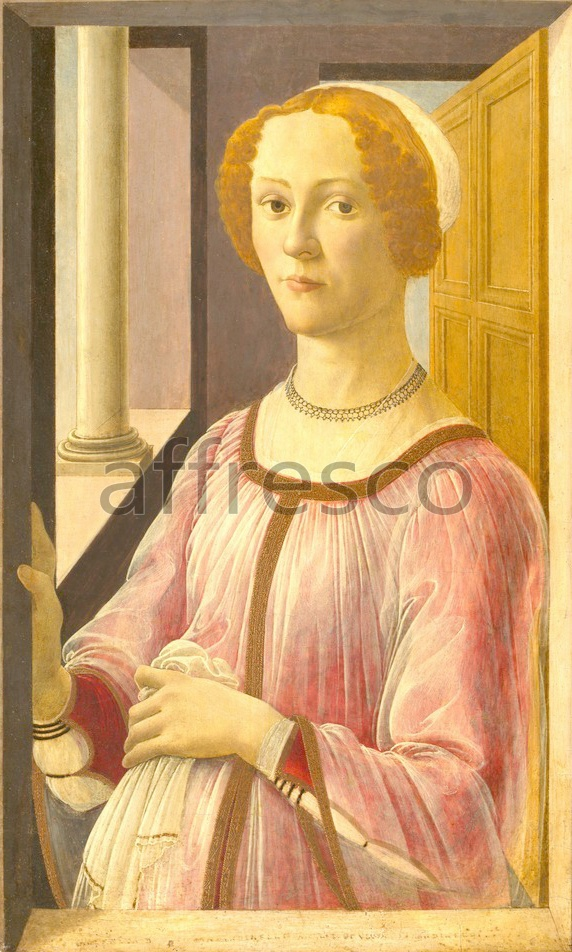 Scenic themes | Botticelli Sandro Portrait of a Lady known as Smeralda Bandinelli | Affresco Factory