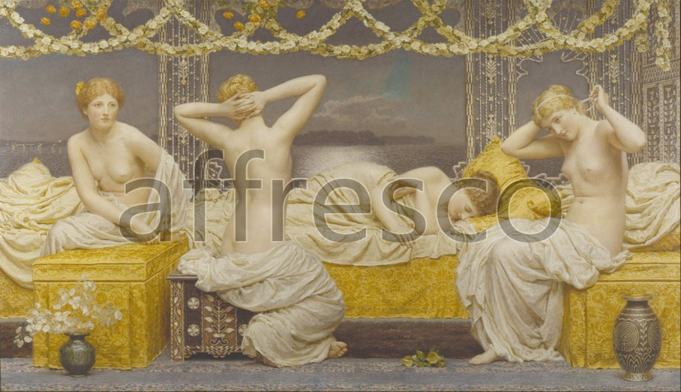 Classical antiquity themes | Albert Joseph Moore A Summer Night | Affresco Factory