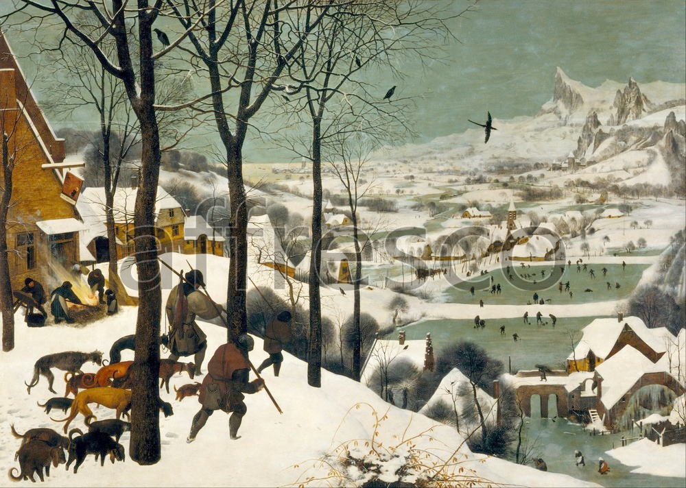 Scenic themes | Pieter Bruegel the Elder Hunters in the Snow Winter | Affresco Factory