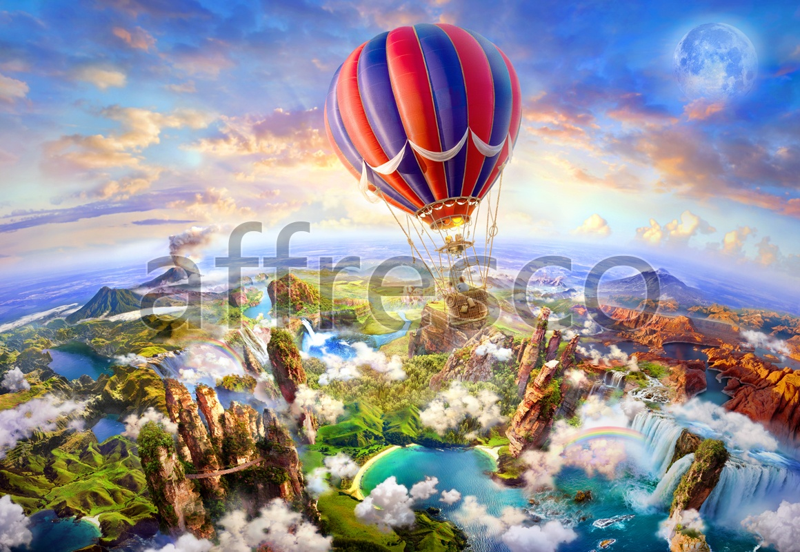 6478 | The best landscapes | Panorama from a balloon | Affresco Factory