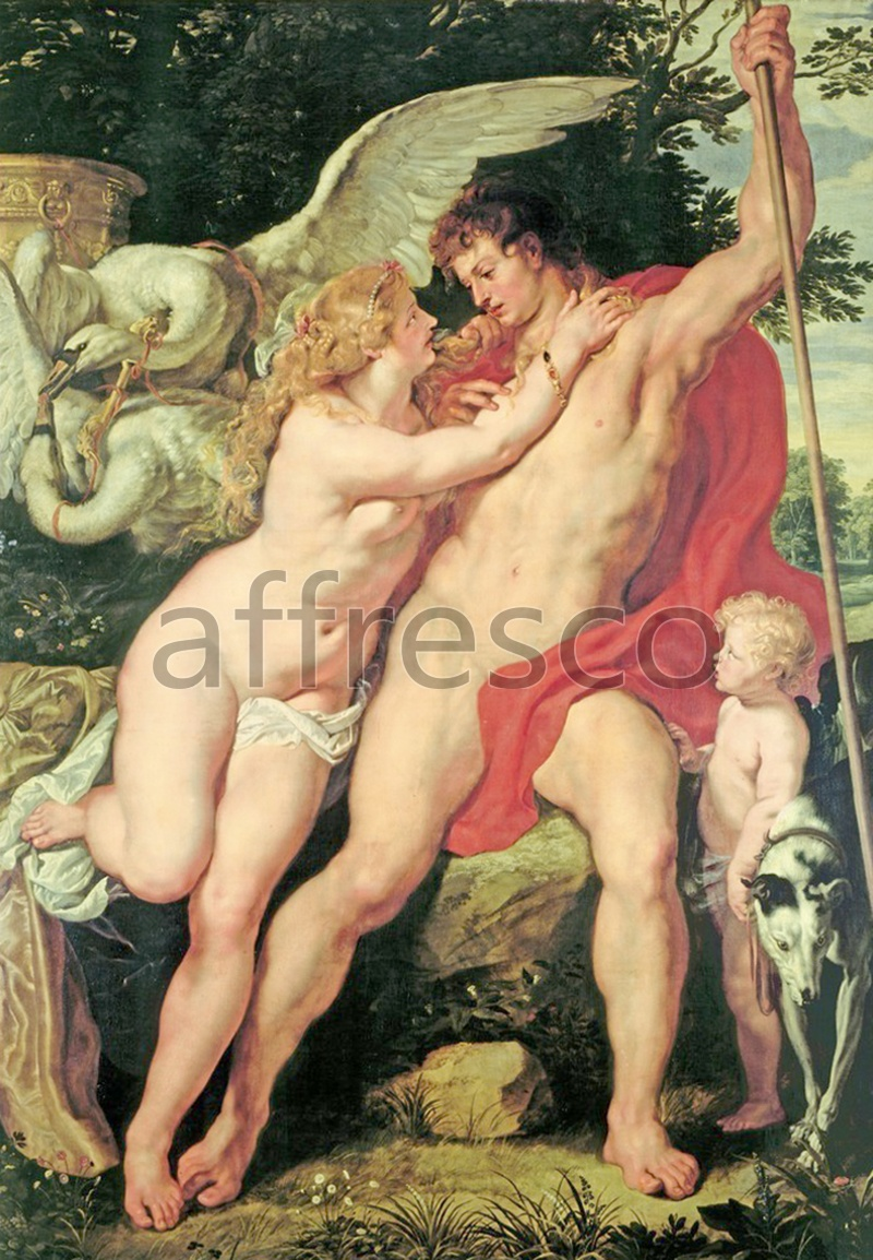 Classical antiquity themes | Peter Paul Rubens Venus and Adonis | Affresco Factory