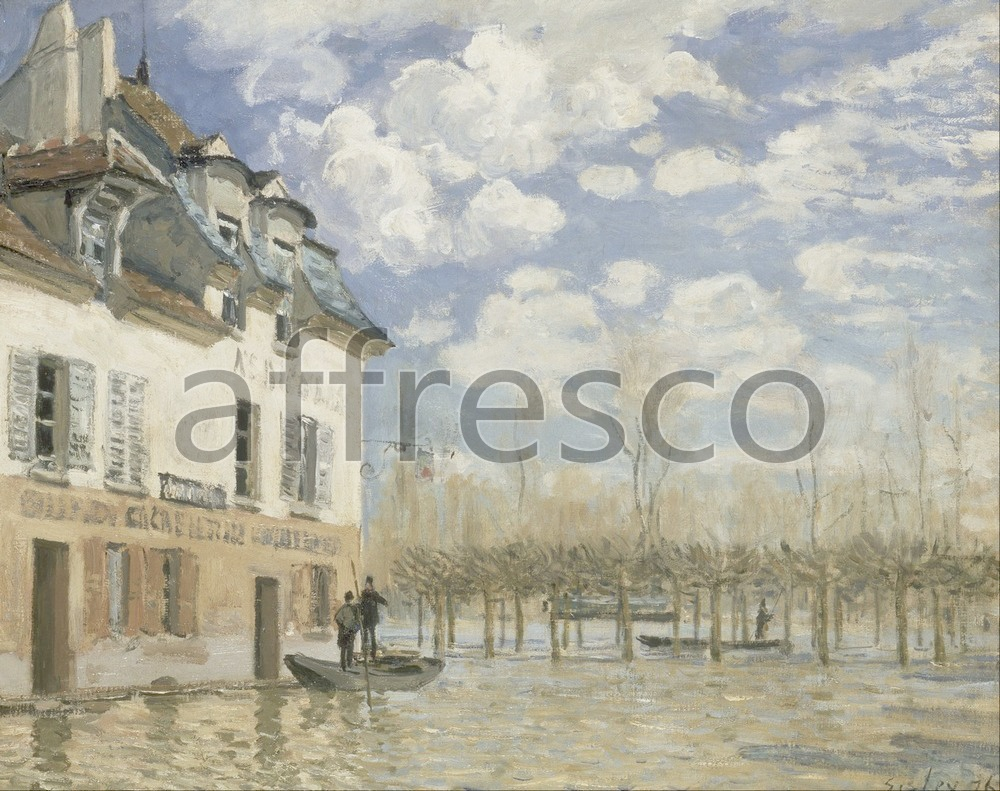 Impressionists & Post-Impressionists | Alfred Sisley Boat in the Flood at Port Marly | Affresco Factory