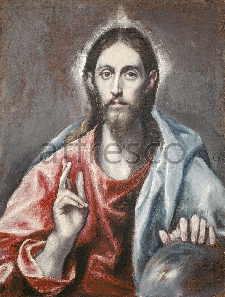 Biblical themes | El Greco Domenikos Theotokopoulos Christ Blessing | Affresco Factory