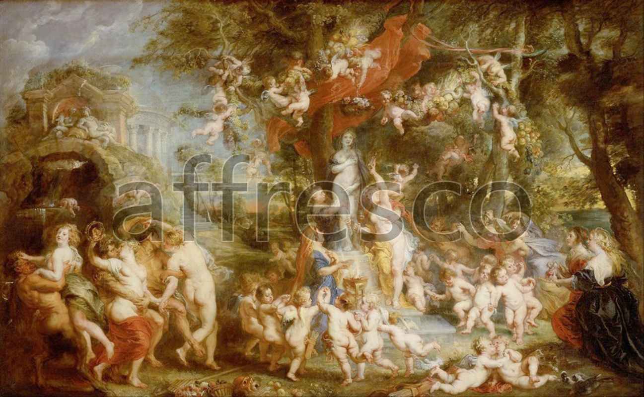 Classical antiquity themes | Peter Paul Rubens The Feast of Venus | Affresco Factory