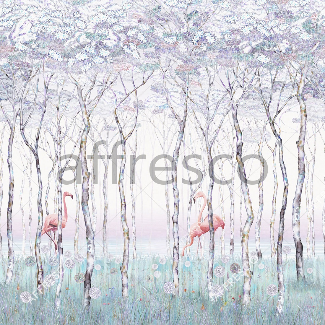 ID135791 | Forest | Flamingo | Affresco Factory