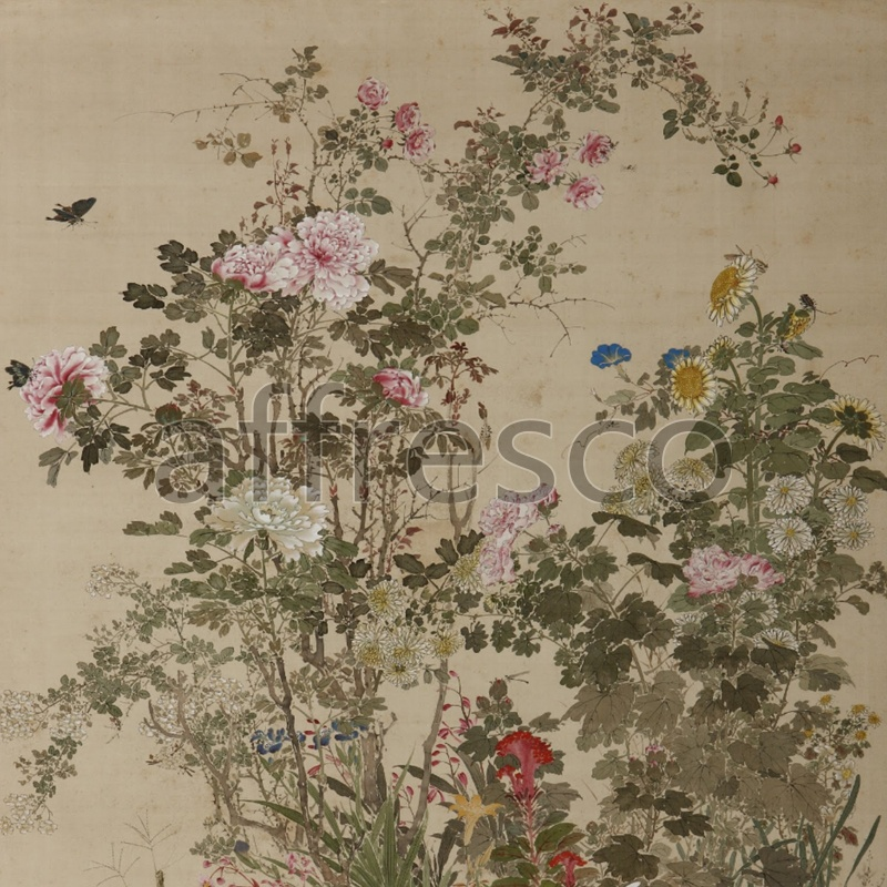 ID135682 | China & Japan | Цветочный куст | Affresco Factory