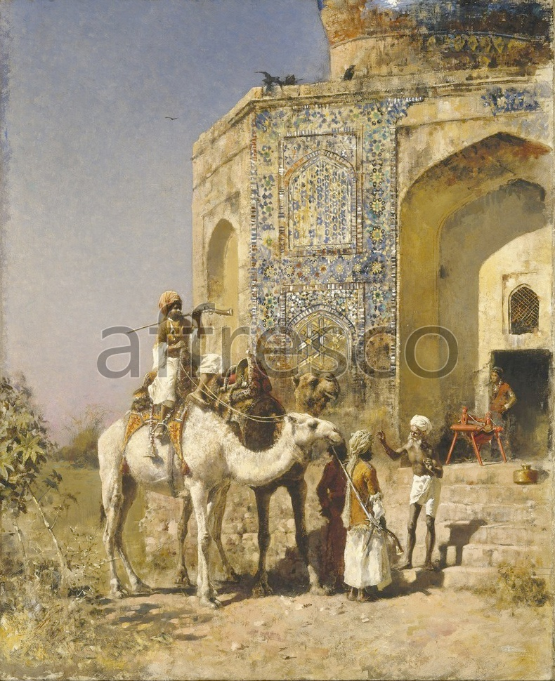 Scenic themes | Edwin Lord Weeks The Old Blue Tiled Mosque Outside of Delhi | Affresco Factory