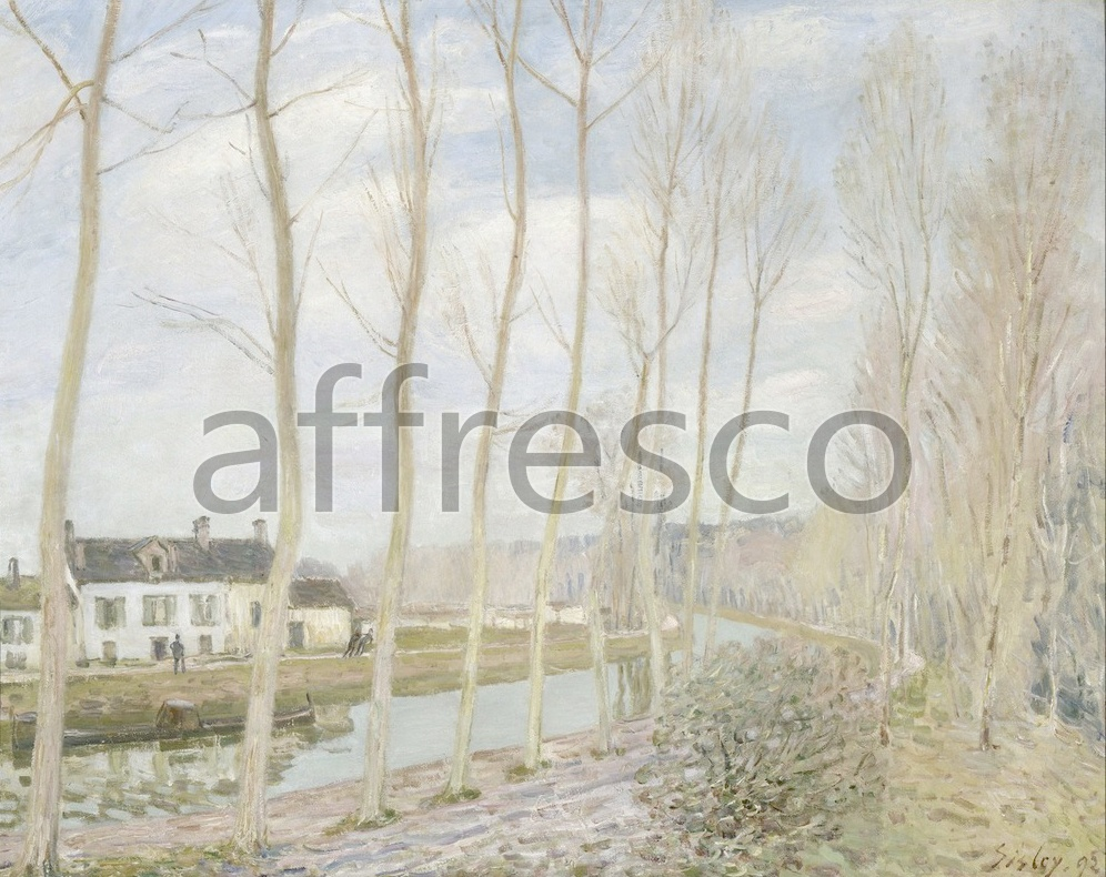 Impressionists & Post-Impressionists | Alfred Sisley The Loings Canal | Affresco Factory