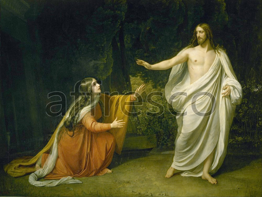 Biblical themes | Alexander Ivanov  Christs Appearance to Mary Magdalene after the Resurrection | Affresco Factory