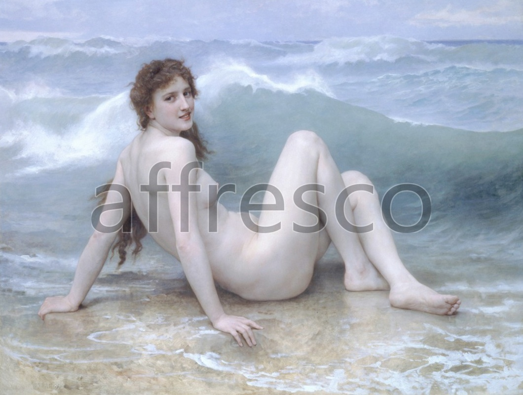 Classical antiquity themes | William Adolphe Bouguereau The Wave | Affresco Factory