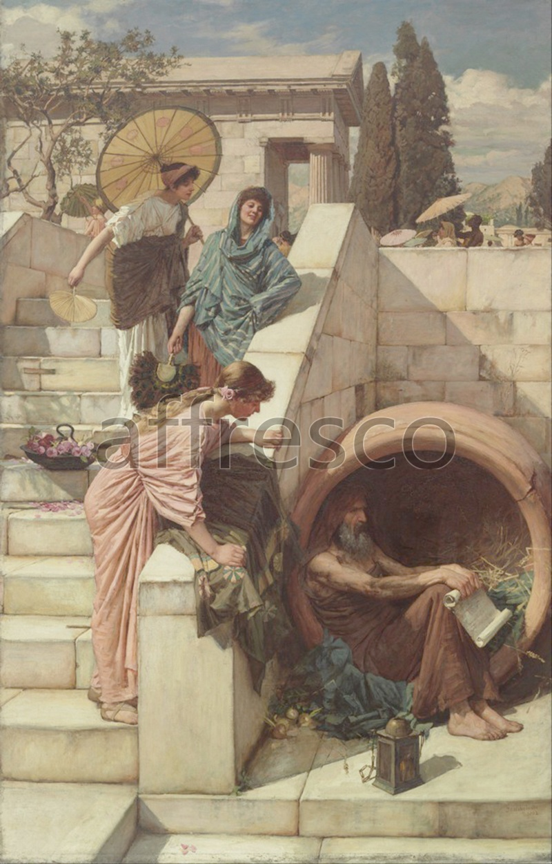 Classical antiquity themes | John Waterhouse Diogenes | Affresco Factory